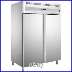 1150L Double Door Upright Freezer Gastro Stainless Steel Commercial Refrigerator