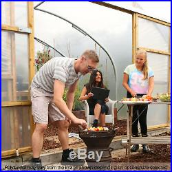 18FT Wide Commercial Poly Tunnel Garden Polytunnel Polythene Plastic Cover