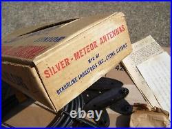 1950s Original NOS Silver Meteor Dual auto Antenna Vintage Chevy Ford Jalopy vw