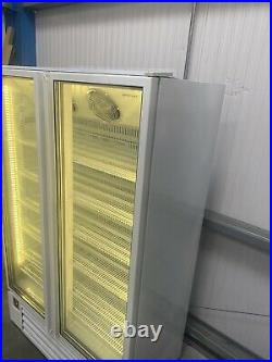 1.2m Boston Double Door Display Fridge Chiller Catering Shop Commercial Chiller