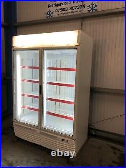 1.35m Framec Double Door Display Freezer Frozen Catering Shop Commercial Chiller