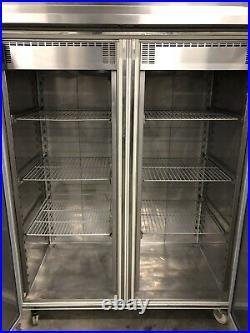 1.4m LTH Double Door Upright Freezer Catering Commercial Restaurant