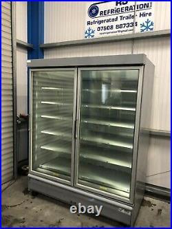 1.6m Verco Double Door Display Freezer Frozen Catering Shop Commercial Chiller
