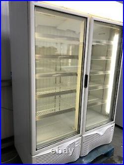 2019 1.35m Framec Double Door Display Freezer Frozen Catering Shop Commercial