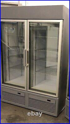 2020 1.2m Double Door Display Freezer Frozen Catering Shop Commercial Chiller