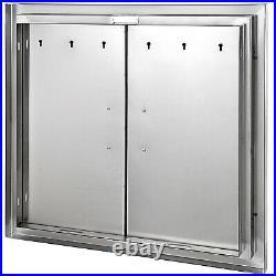 26X24BBQ Access Island Double Door Heavy Duty Vertical Commercial
