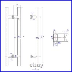 32mm Pull T Bar Front Door Stainless Steel Handle Entry Entrance 316 grade round
