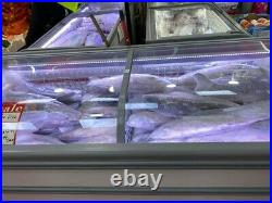 4 Commercial Double Chest Freezer Glass Sliding Doors / Used For Grocery Shop