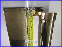 6 Brass door pull handles inc 6 finger plates