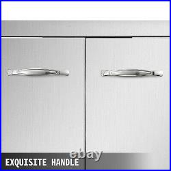 83 x 55 cm BBQ Door Double Access Door Outdoor Kitchen Polished Commercial