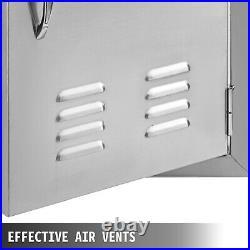 91x53cm BBQ Door Double Access Door With Vent Handle Rust Resistant Commercial