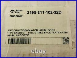 Adams Rite Dual Force 2190 Aluminum Door Deadlock Bolt/Latch 2190-311-102-32D