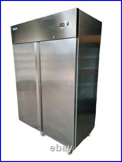 Afinox Double Door Freezer, Commercial Upright Stainless Steel Freezer