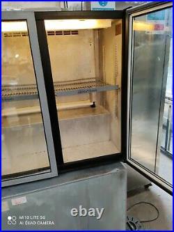 Allstar under counter commercial double door glass fridge bottle cooler