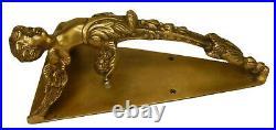 Angel Boy Design Vintage Antique Repro Handmade Brass Big Door Gate Pull Handle