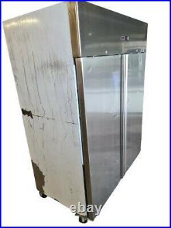 Artikcold Double Door Fridge, Commercial Stainless Steel Upright 2 Door Chiller