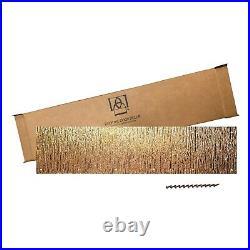 Artisan Copper Door Kick Plate, Screw Mount, 8x34in. Embossed TREE BARK Pattern
