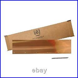 Artisan Copper Screw Mount Door Kick Plate 8x34in