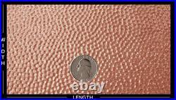Artisan Copper Screw Mount Door Kick Plate 8x34in. Embossed Hammered Pattern