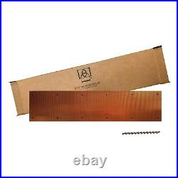 Artisan Door Kick Plate Corrugated 100% Copper Door Kick Plate 8 x 34 Inch