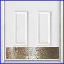 Artisan Stainless Steel Door Kick Plate, Screw Mount, 8x34in. TREE BARK Pattern