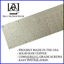 Artisan Stainless Steel Screw Mount Door Kick Plate 8x34in. Hammered Pattern