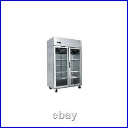 Atosa MCF8605 Double Glass Door Display Commercial Fridge