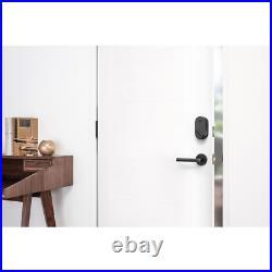 August Smart Lock Dark Gray Deadbolt Keyless Entry DoorSense Technology Aluminum