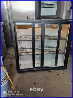Autonomis under counter commercial double sliding door fridge bottle cooler