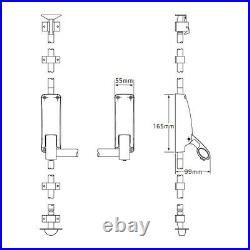 Briton Panic Bolt B376E/SE Single Door Commercial Grade Silver