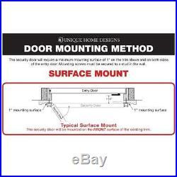 Bronze Surface Mount Ultimate Security Screen Door with Meshtec Screen 64x80