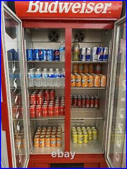 Budweiser Commercial double door display fridge drinks bottle cooler