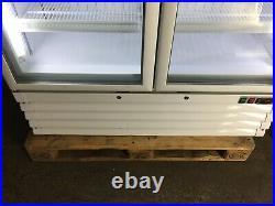 Capital Pegasus MK22D double door glass commercial shop freezer