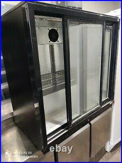 Capital Under counter commercial double sliding door glass fridge bottle cooler