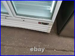 Capitol Commercial Upright Double Glass Door Display Freezer Internal Shelving