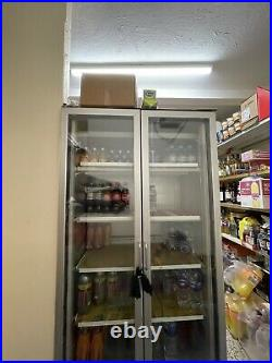 Caravell Commercial Double Door Display Chiller GOOD WORKING CONDITION
