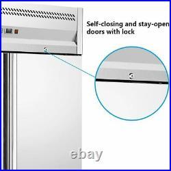 Commercial 1150L Double Door Upright Freezer Stainless Steel Refridgerator