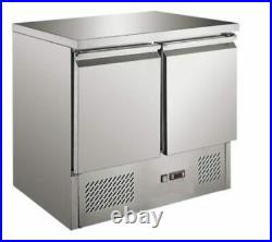 Commercial Bench Fridge 2 Door Chiller Double Prep Atosa Ice-A-Cool ICE3801GR