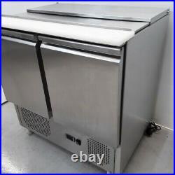 Commercial Bench Fridge 2 Door Double Prep Chiller S900