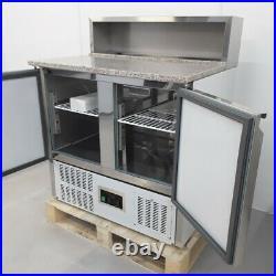 Commercial Bench Fridge 2 Door Double Prep Chiller Saladette Tefcold GP92