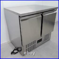 Commercial Bench Fridge 2 Door Double Prep Chiller Tefcold GS91