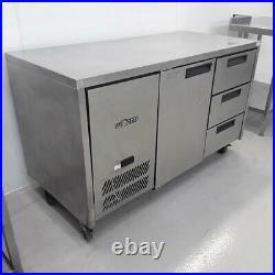 Commercial Bench Fridge 2 Door Drawer Double Prep Chiller Williams HJC2SA