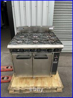 Commercial Blueseal Oven Double Door Six Burner Gas 6 Burner Hob G50 Industrial