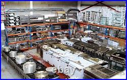 Commercial Double 2 Door Steel Prep Counter Fridge