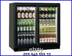 Commercial Double Door Bottle cooler / Display Bar Fridge with Free delivery