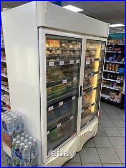Commercial Double Door Upright Freezer. Used