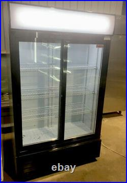 Commercial Double Sliding 2 Door Display Bottle Cooler Large (114cm)