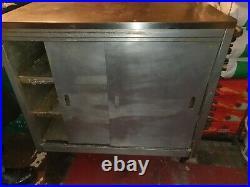 Commercial Double Sliding Door Hot Cupboard Keep Warm Plate Food Warmer