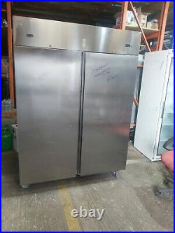 Commercial Electrolux upright double door fridge stainless steel 1300 liter used