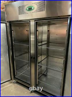 Commercial Foster Double Door Upright Freezer 1400L 140x80x210cm
